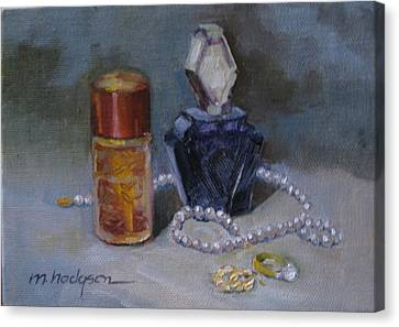 Pearls And Perfumes Canvas Print by Margaret Hodgson