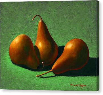 Pears Canvas Print by Frank Wilson