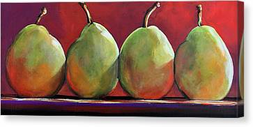 Peartastic Canvas Print by Toni Grote