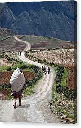 Peasant's Journey Canvas Print by Wendy White