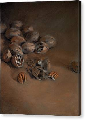 Pecan Study Canvas Print by Christopher Reid