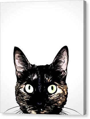 Peeking Cat Canvas Print by Nicklas Gustafsson