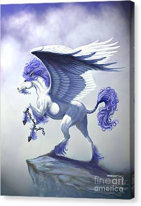 Pegasus Unchained Canvas Print by Stanley Morrison