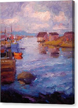 Peggy's Cove Canvas Print by R W Goetting