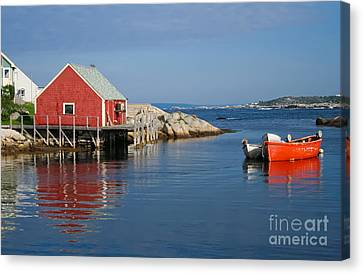 Peggys Cove Canvas Print by Thomas Marchessault