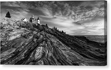 Pemaquid Point Mono Canvas Print by Darren White