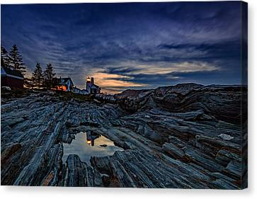 Pemaquid Reflections Canvas Print by Rick Berk
