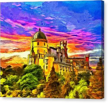 Pena National Palace - Da Canvas Print by Leonardo Digenio