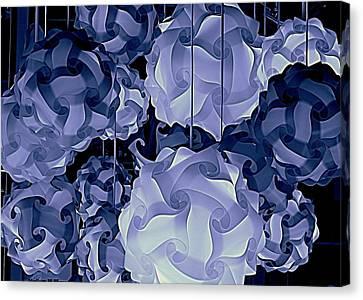Pendants In Purple Canvas Print by Ranjini Kandasamy