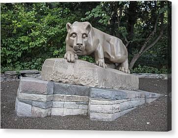 Penn Statue Statue  Canvas Print by John McGraw