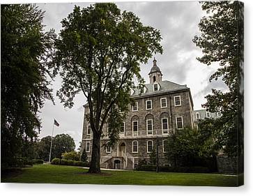 Penn State Old Main And Tree Canvas Print by John McGraw