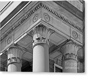 Penn State University Old Main Canvas Print by University Icons