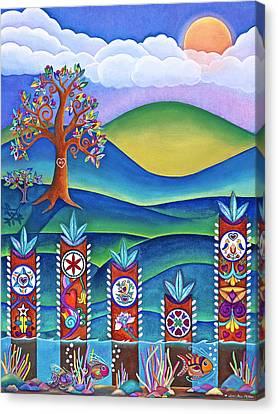 Pennsylvania Dutch Hex Signs Canvas Print by Lori Miller