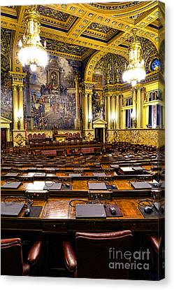 Pennsylvania House Of Representatives Canvas Print by Olivier Le Queinec
