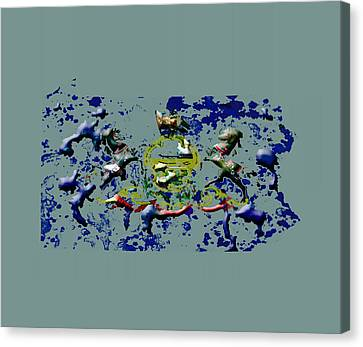 Pennsylvania Paint Splatter Canvas Print by Brian Reaves