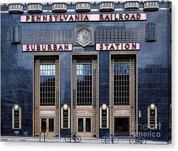 Pennsylvania Railroad Suburban Station Canvas Print by Olivier Le Queinec