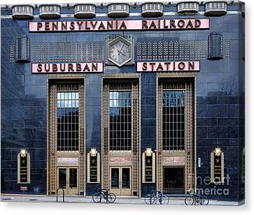 Pennsylvania Railroad Suburban Station Canvas Print by Olivier Le Queinec