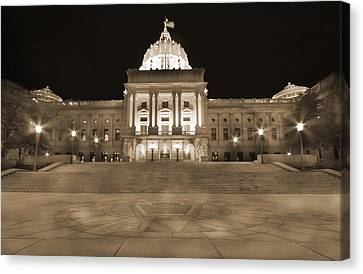 Pennsylvania State Capitol Canvas Print by Shelley Neff