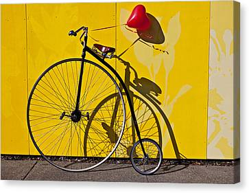 Penny Farthing Love Canvas Print by Garry Gay