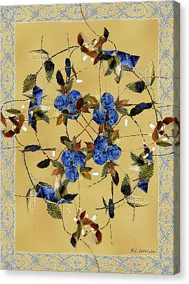 Penny Postcard Silk-stitched Canvas Print by RC DeWinter