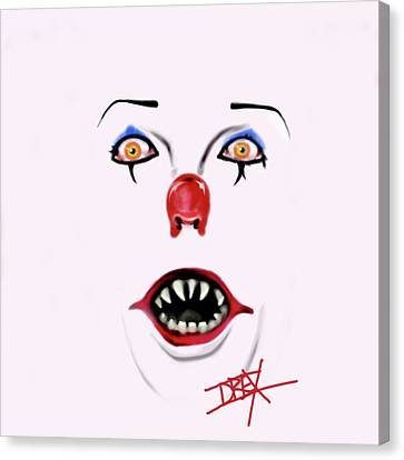 Pennywise The Clown Canvas Print by Danielle LegacyArts
