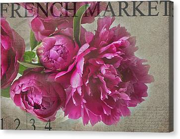 Peonies Canvas Print by Rebecca Cozart