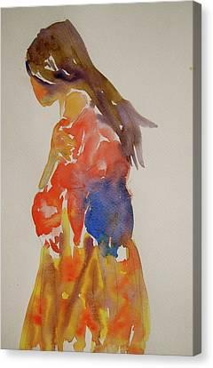 People Turned Away Canvas Print by Beverley Harper Tinsley
