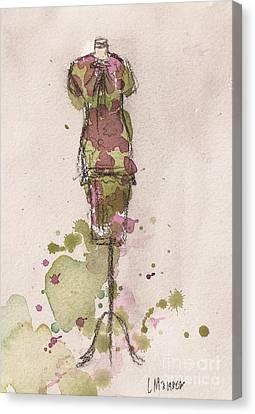 Peplum Dress Canvas Print by Lauren Maurer