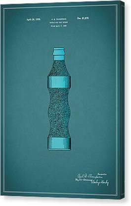 Pepsi Cola Bottle Patent 1930 Canvas Print by Mark Rogan