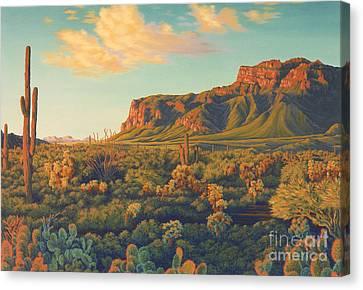 Peralta's Gold Canvas Print by Cheryl Fecht