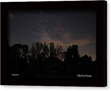 Perseid Meteor In Milky Way Canvas Print by PJQandFriends Photography