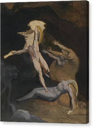 Perseus Slaying The Medusa Canvas Print by Henry Fuseli