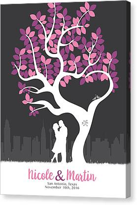 Personalized San Antonio Texas Skyline Wedding Gift Canvas Print by Aged Pixel