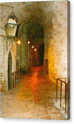 Perugia Grotto 1 Canvas Print by Rob Tullis