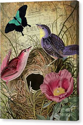 Petals And Wings IIi Canvas Print by Mindy Sommers