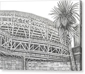 Petco Park Canvas Print by Juliana Dube