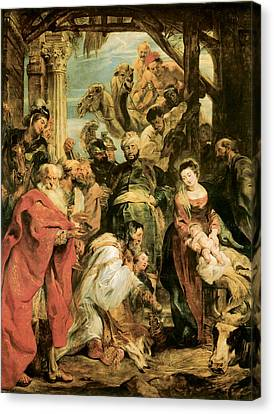 Peter Paul Rubens Canvas Print by The Adoration of the Magi