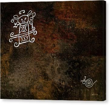 Petroglyph 8 Canvas Print by Bibi Romer