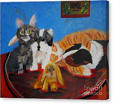 Pets Home Canvas Print by Jayne Kerr