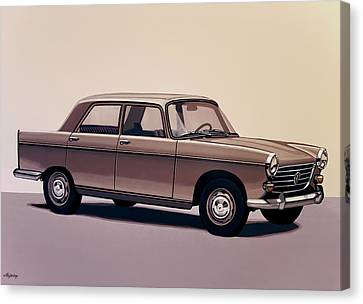 Peugeot 404 1960 Painting Canvas Print by Paul Meijering