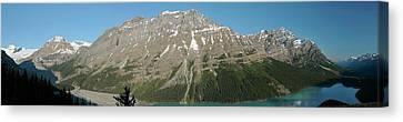 Peyto Lake Panorama Canvas Print by Dave Belcher