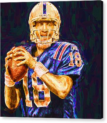 Peyton Manning Indianapolis Colts Nfl Football Painting Digital Canvas Print by David Haskett