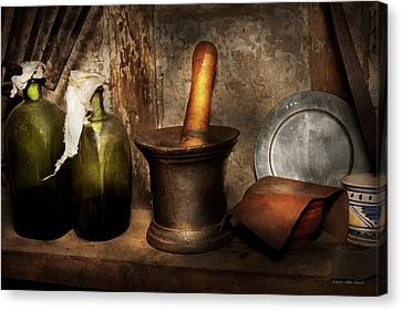 Pharmacy - Pestle - Home Remedies Canvas Print by Mike Savad