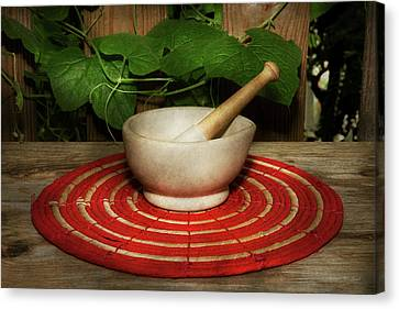 Pharmacy - Pestle - The Herbalist Canvas Print by Mike Savad