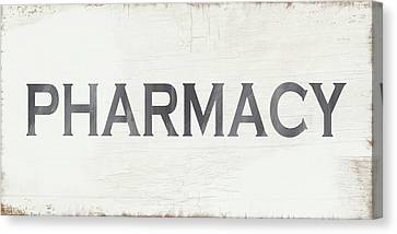 Pharmacy Sign- Art By Linda Woods Canvas Print by Linda Woods