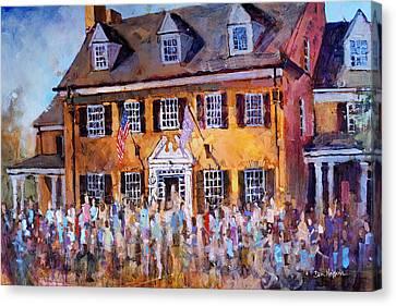 Phi Gamma Delta Unc Canvas Print by Dan Nelson