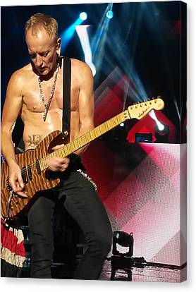 Phil Collen Of Def Leppard 2 Canvas Print by David Patterson