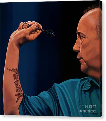 Phil Taylor The Power Canvas Print by Paul Meijering