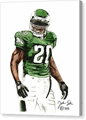 Philadelphia Eagles Brian Dawkins #20 Canvas Print by Jordan Spector
