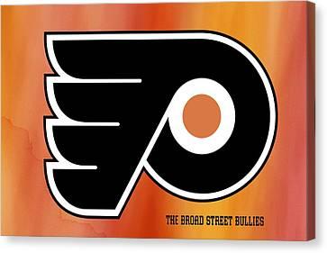 Philadelphia Flyers Hockey Club Canvas Print by Daniel Hagerman